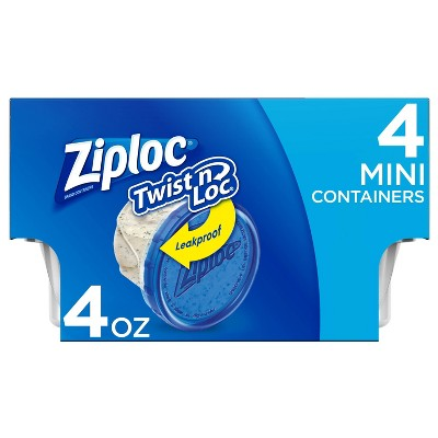 Ziploc Twist 'N Loc Container - 4oz