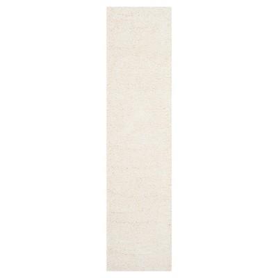 Ivory Solid Shag/Flokati Loomed Runner - (2'X8' Runner)- Safavieh®