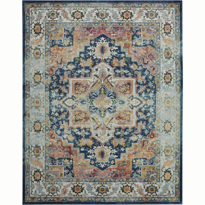 Nourison Global Vintage GLB11 Blue/Red/Beige Indoor Area Rug