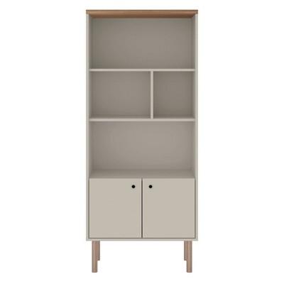 Windsor Display Bookcase Cabinet - Manhattan Comfort