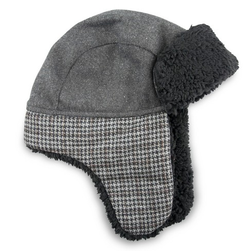 Boys' Trapper Hats - Cat & Jack™ Charcoal 4-7 - image 1 of 1