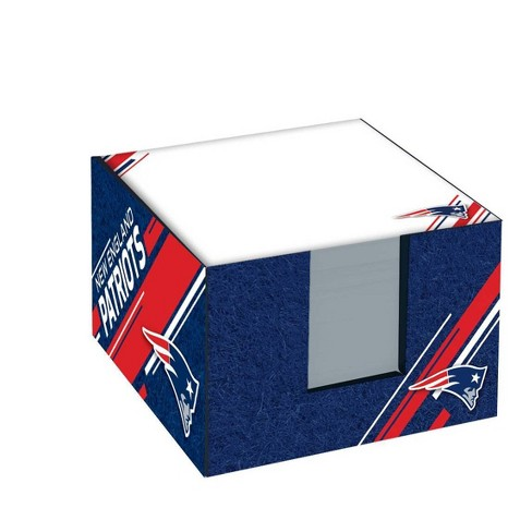 NFL New England Patriots Note Cube with Holder - image 1 of 2