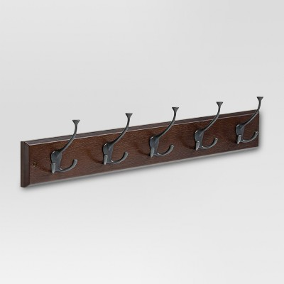 27  Hook Rack with Flared Tri-Hooks - Cocoa/Soft Iron - Threshold™