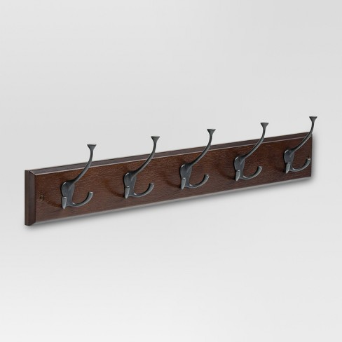 "27"" Hook Rack with Flared Tri-Hooks - Cocoa/Soft Iron - Threshold™ - image 1 of 1"