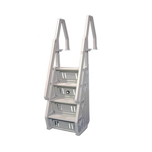 Vinyl Works IN Deluxe 32 Inch Adjustable In Step Above Ground Pool Ladder, Taupe - image 1 of 4