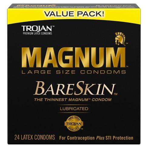 trojan magnum bareskin lubricant condoms 24ct target