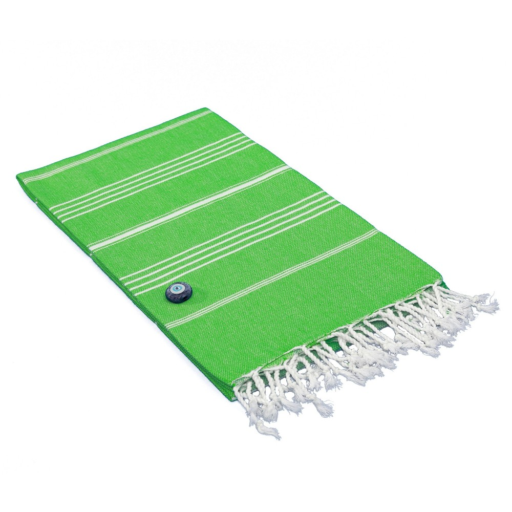 Lucky Pestemal Beach Towel Emerald (Green)