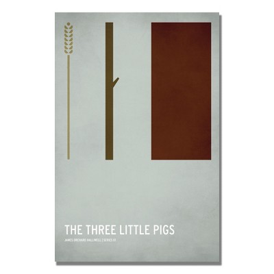 'Three Little Pigs' by Christian Jackson Ready to Hang Canvas Wall Art