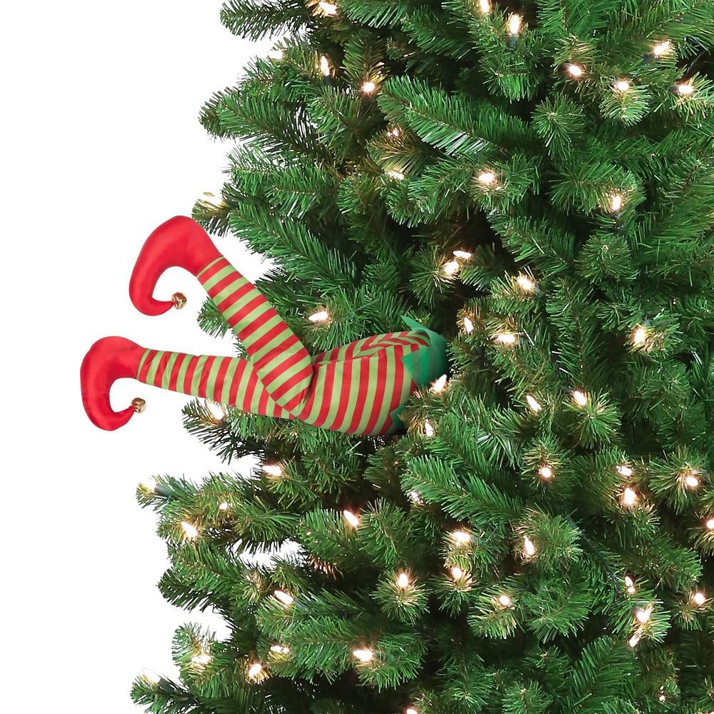 "Image of ""16"""" Animated Elf Christmas Kickers Decorative Figurine - Mr. Christmas"""