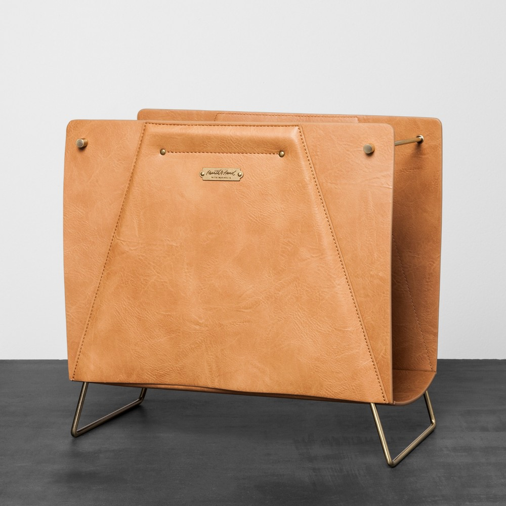 Faux Leather File Sorter - Brown - Hearth & Hand with Magnolia