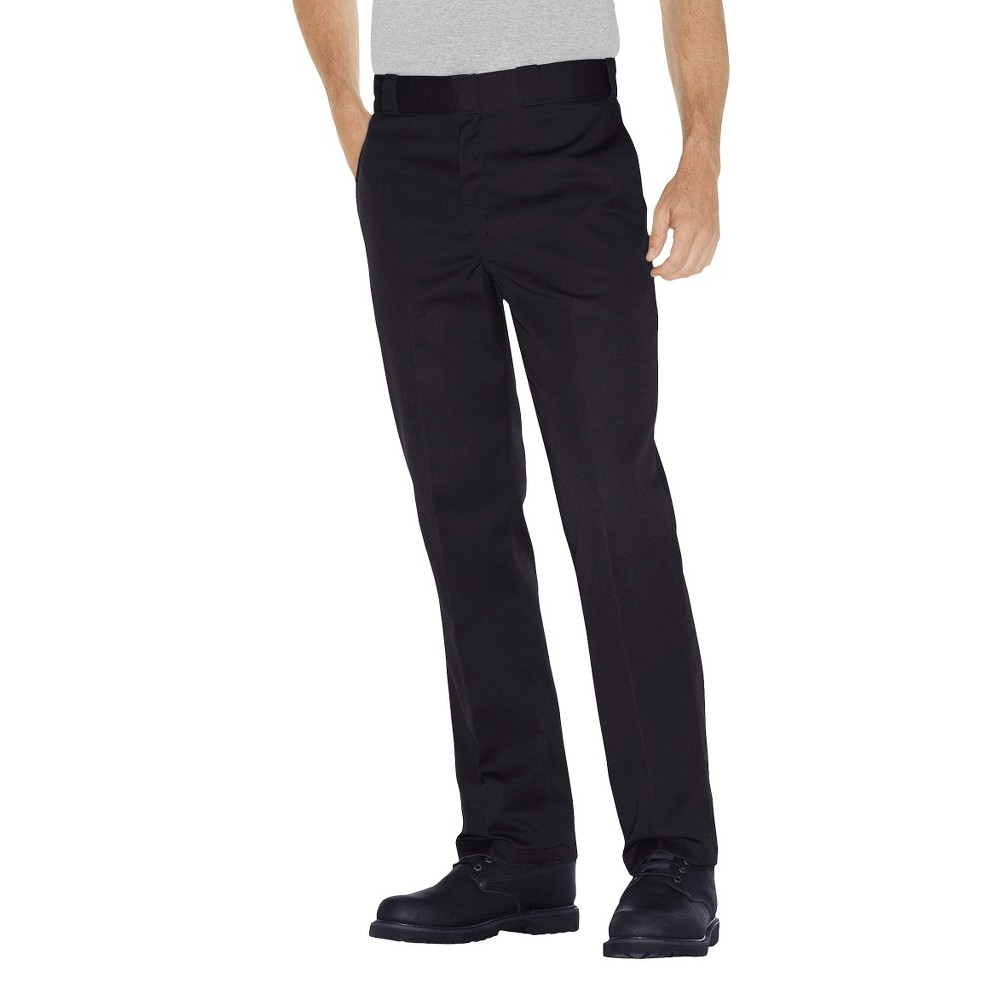 Dickies - Men's Big & Tall Original Fit 874 Twill Pants, Size: 52x32, Black
