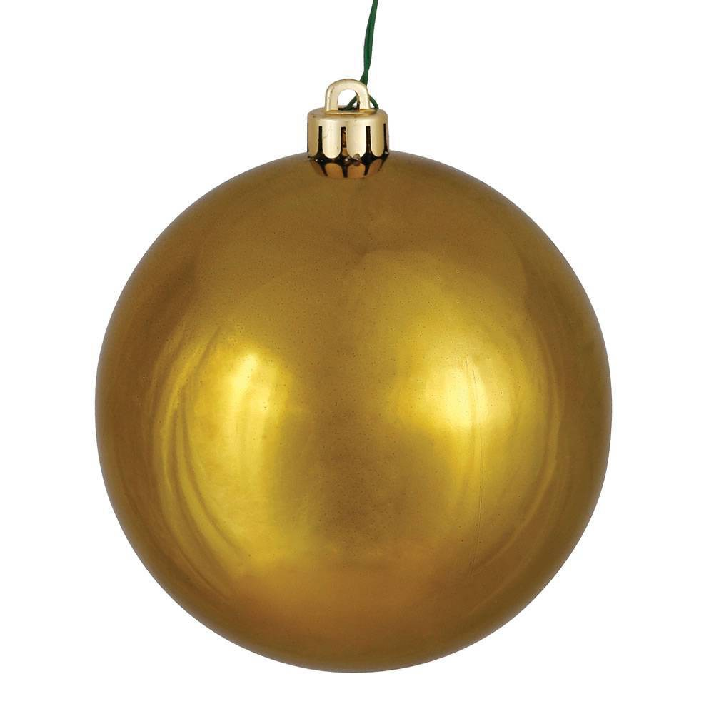 "Image of ""Vickerman 2.75""""/12ct Olive UV Coated Shiny Ball Ornament Olive"""