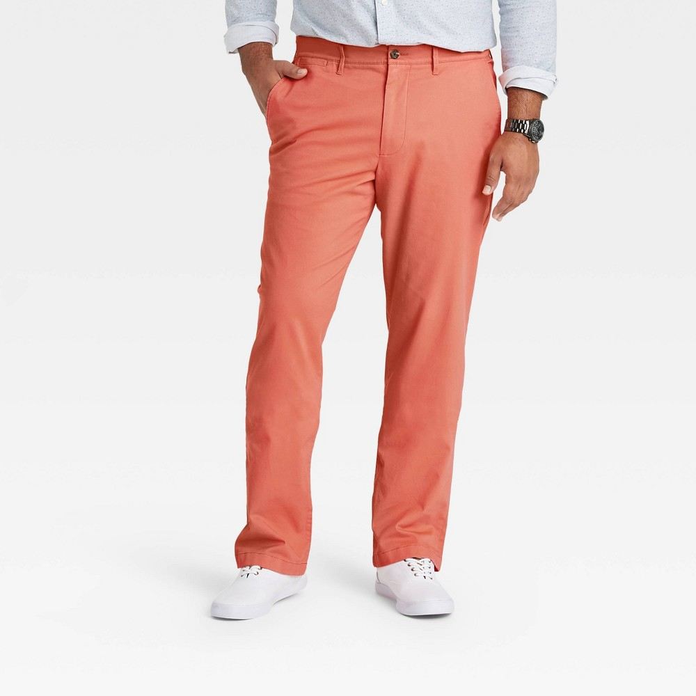 Men 39 S Big 38 Tall Straight Fit Chino Pants Goodfellow 38 Co 8482 Coral Stone 48x36