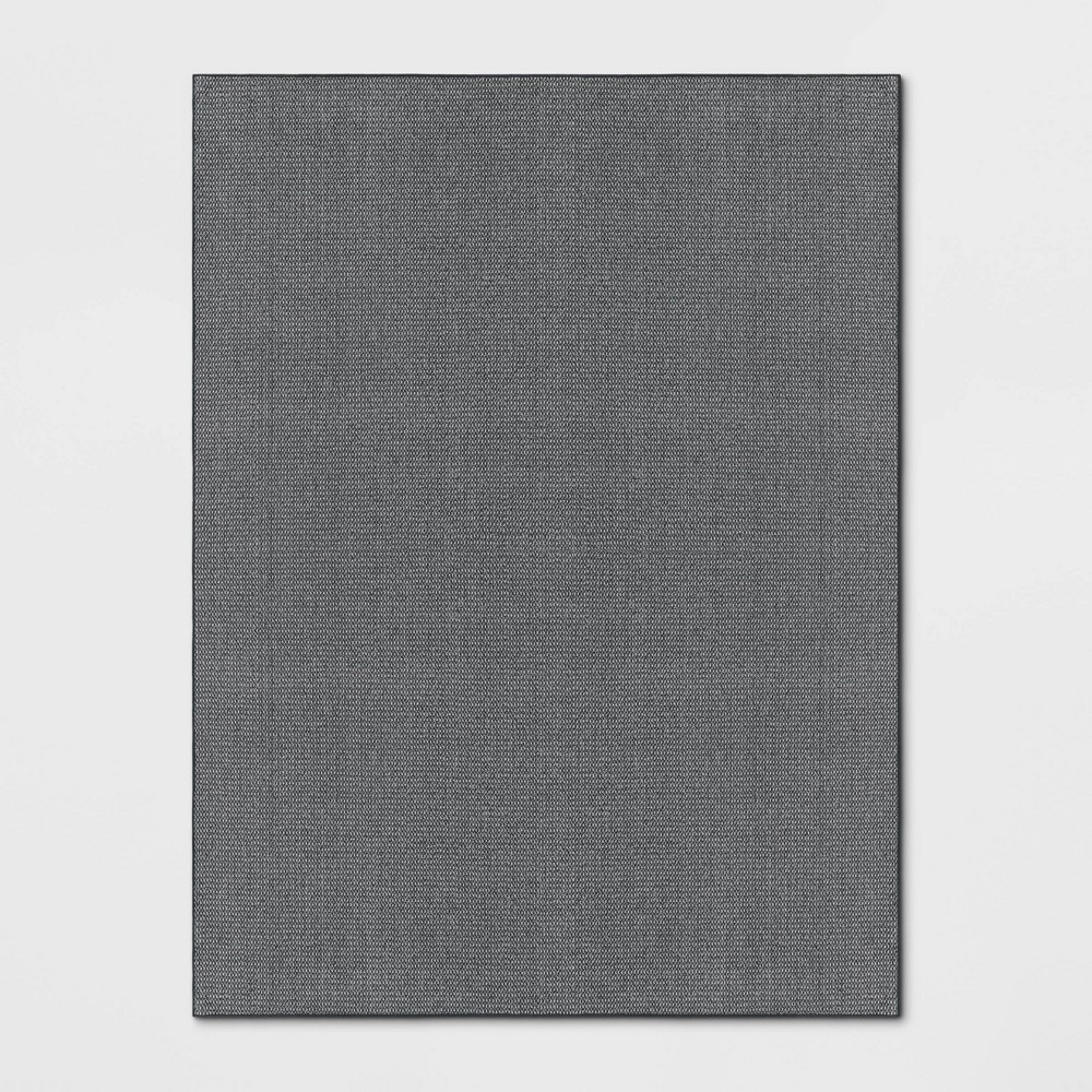 Image of 9'X12' Indoor/Outdoor Solid Tufted Area Rug Charcoal - Made By Design