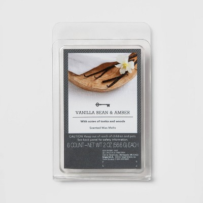 6ct Vanilla Bean and Amber Scented Wax Melts - Threshold™