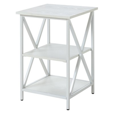 Johar Furniture Tucson 3 Tier End Table White