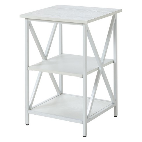 Johar Furniture Tucson 3 Tier End Table White Target