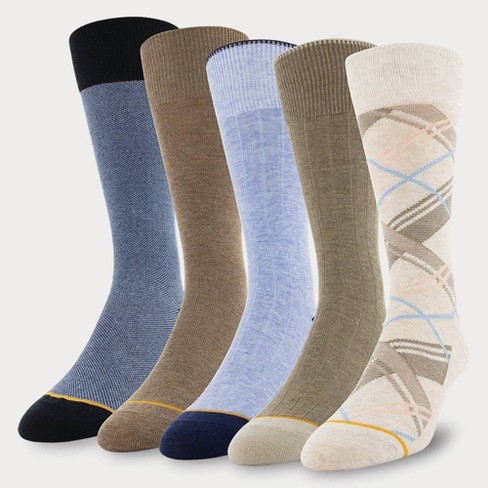 Signature Gold by GOLDTOE Men's Marcos Madras Plaid Crew Socks 5pk - 6-12.5 - image 1 of 2