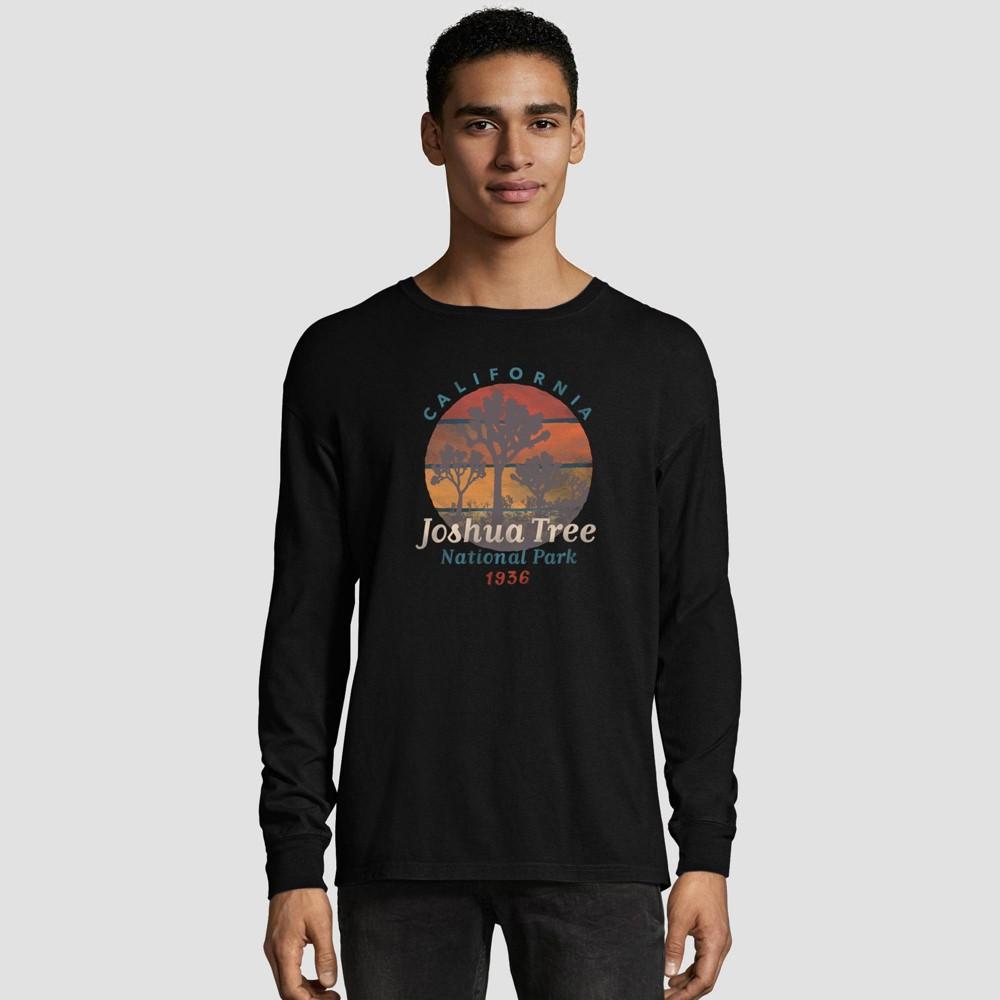 Hanes Men's Big & Tall Long Sleeve National Parks Service T-Shirt - Black 3XL