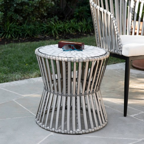 Millani Round Outdoor Portable Patio Side Table Aiden Lane Target