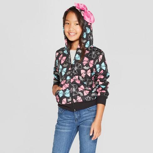 2796686e6f3 Girls  Nickelodeon JoJo Siwa Fleece Costume Sweatshirt - Black L ...