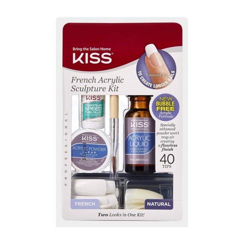 Kiss Bring the Salon Home French Acrylic Nail Kit - Natural - image 1 of 3
