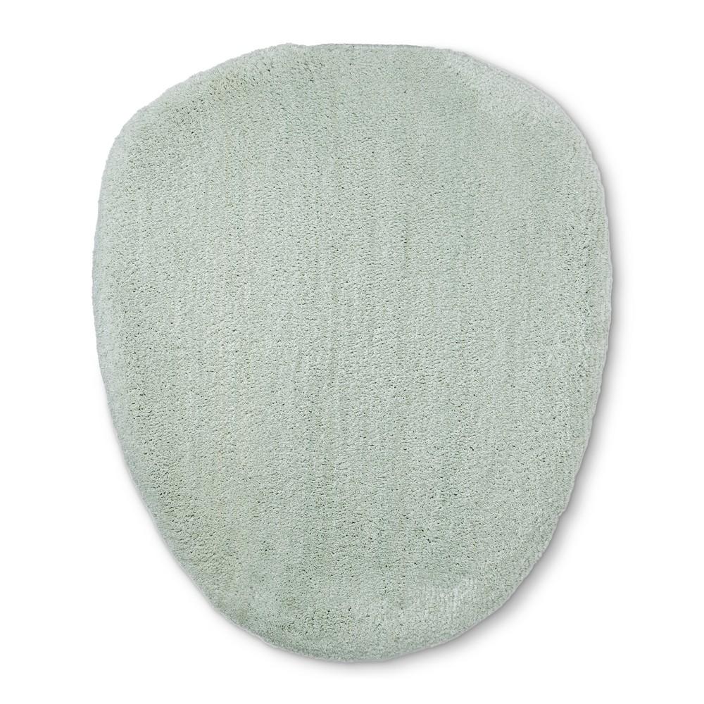 Tufted Spa Toilet Lid Cover Standard Gray Mint - Fieldcrest