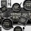 48ct Vintage Dude Napkins Gray - image 2 of 3