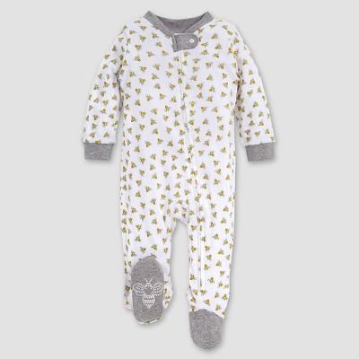 Burt's Bees Baby® Be Honey Bee Striped Organic Cotton Sleep 'N Play Footed Pajama - Yellow/White/Black 6-9M