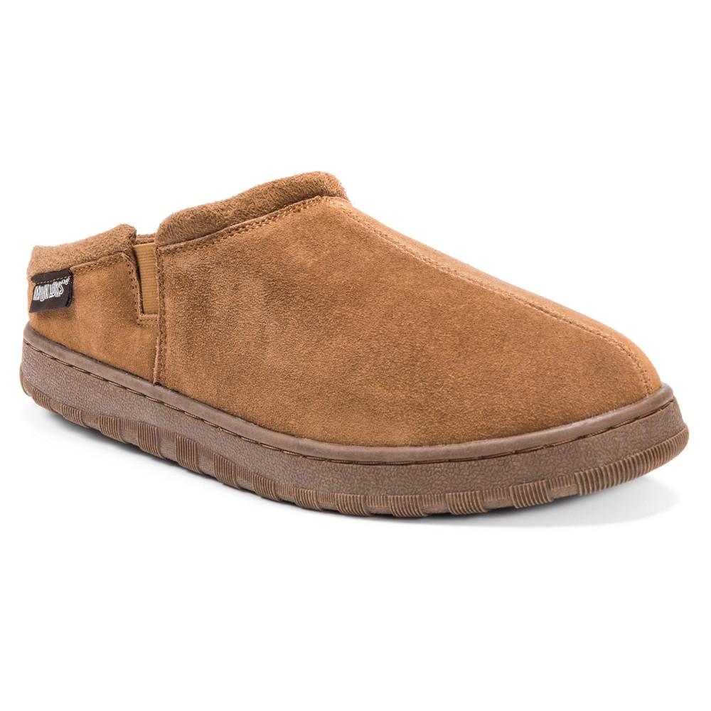 Image of Men's MUK LUKS Berber Suede Clog Slippers - Tan 10, Men's