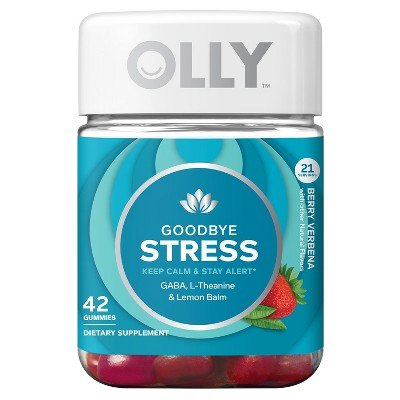 Olly Goodbye Stress Dietary Supplement Gummies Berry Verbena