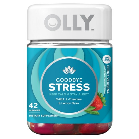 Olly Goodbye Stress Dietary Supplement Gummies - Berry Verbena - 42ct - image 1 of 4