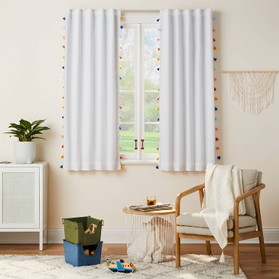 "63"" Blackout Tassel Curtain Panel - Pillowfort™"