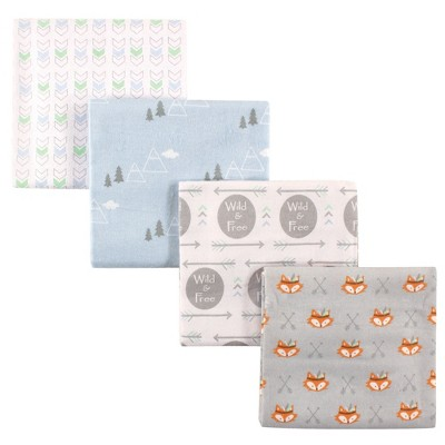 Luvable Friends Baby Boy Cotton Flannel Receiving Blankets, Wild Free, One Size