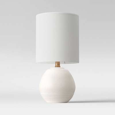 Ceramic Ringed Accent Lamp White - Opalhouse™