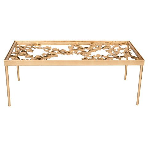 Coffee Table Antique Gold Safavieh