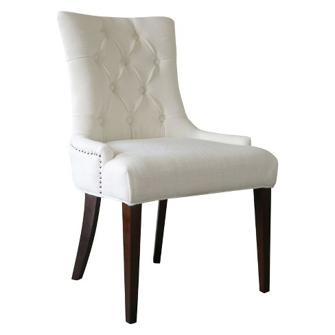 Madelyn Snow White Tufted Chair - Comfort Pointe - image 1 of 3