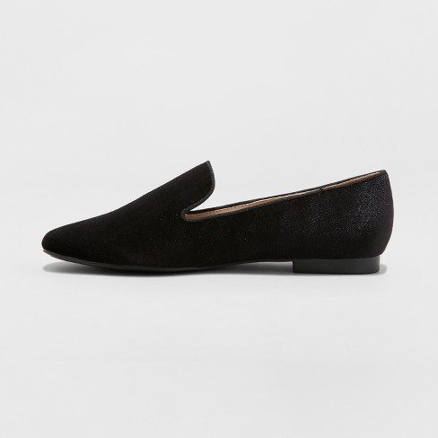 c58f7a256 Women's Trinity Velvet Smoking Loafers - A New Day™ Black : Target