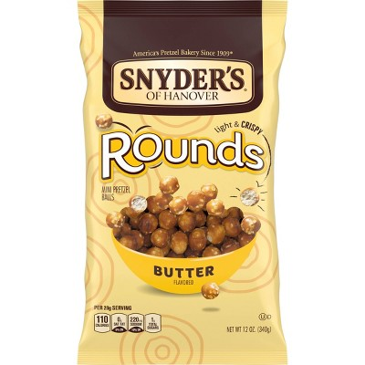 Snyder's Rounds Butter Pretzels - 12oz