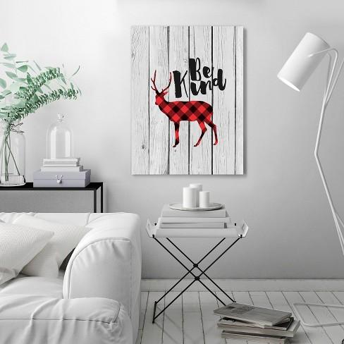 Americanflat Be Kind Deer Gray Wood By Wall Wonder 51 X60 Wall Tapestry Target