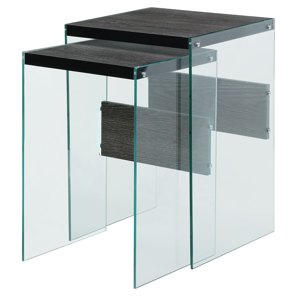 Soho Nesting End Tables - Weathered Gray - Convenience Concepts