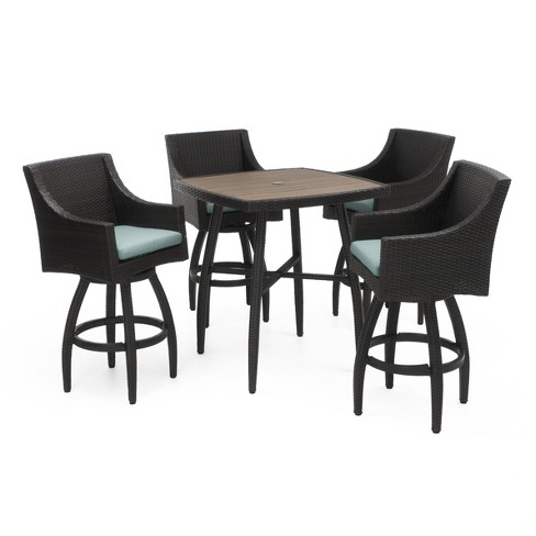RST Brands Deco 5 Piece Woven Barstool Set with Cushions - image 1 of 9
