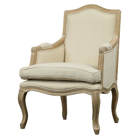 Upholstered Chair Buff Beige - Baxton Studio - image 1 of 5