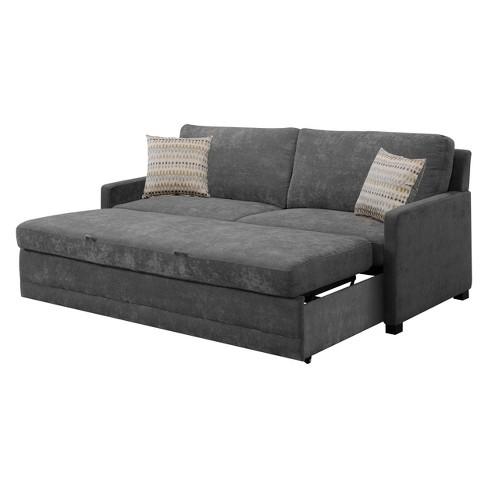 Shelby Queen Size Sleeper Sofa In Medium Gray Serta Target