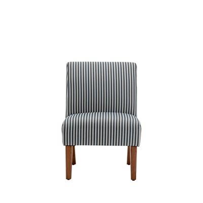 Armless Slipper Accent Chair Striped - WOVENBYRD