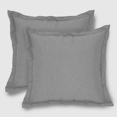 2pk Square Outdoor Pillows Gray - Threshold™