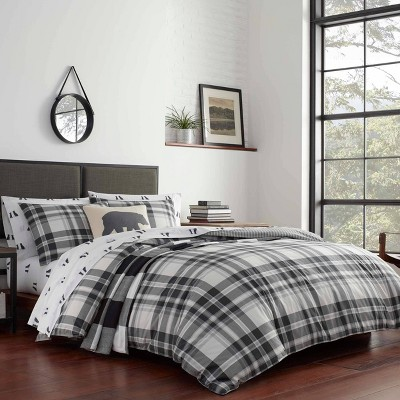 Eddie Bauer Coal Comforter & Sham Set Chrome
