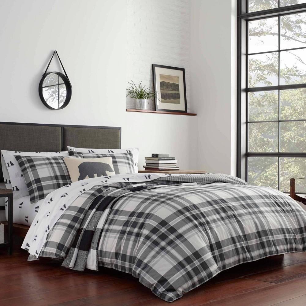 Eddie Bauer King Coal Creek Comforter 38 Sham Set Chrome