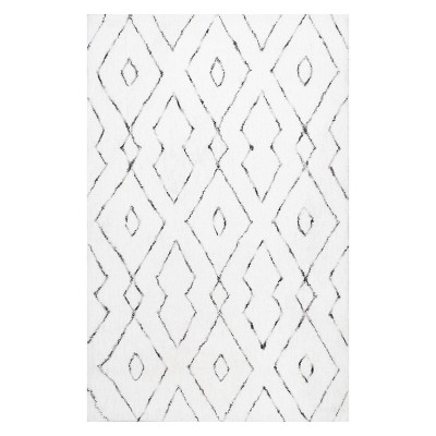 White Solid Tufted Area Rug 9'X12' - nuLOOM