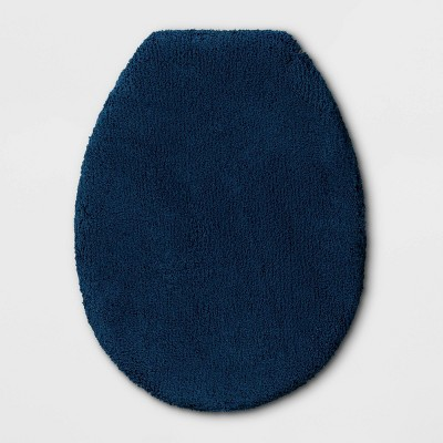 "18""x21"" Elongated Toilet Lid Cover Dark Blue - Threshold Signature™"